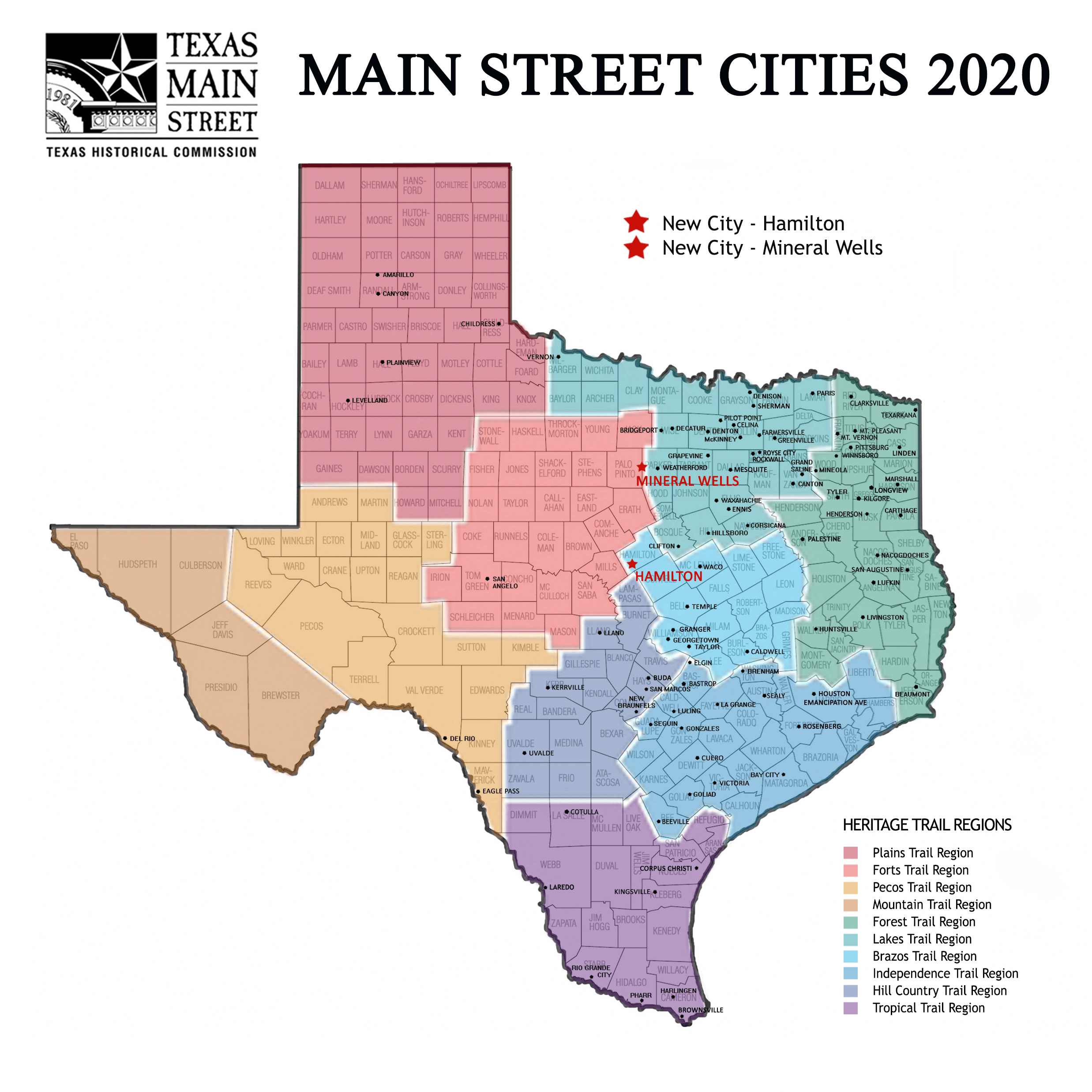 Map of 2020 Cities